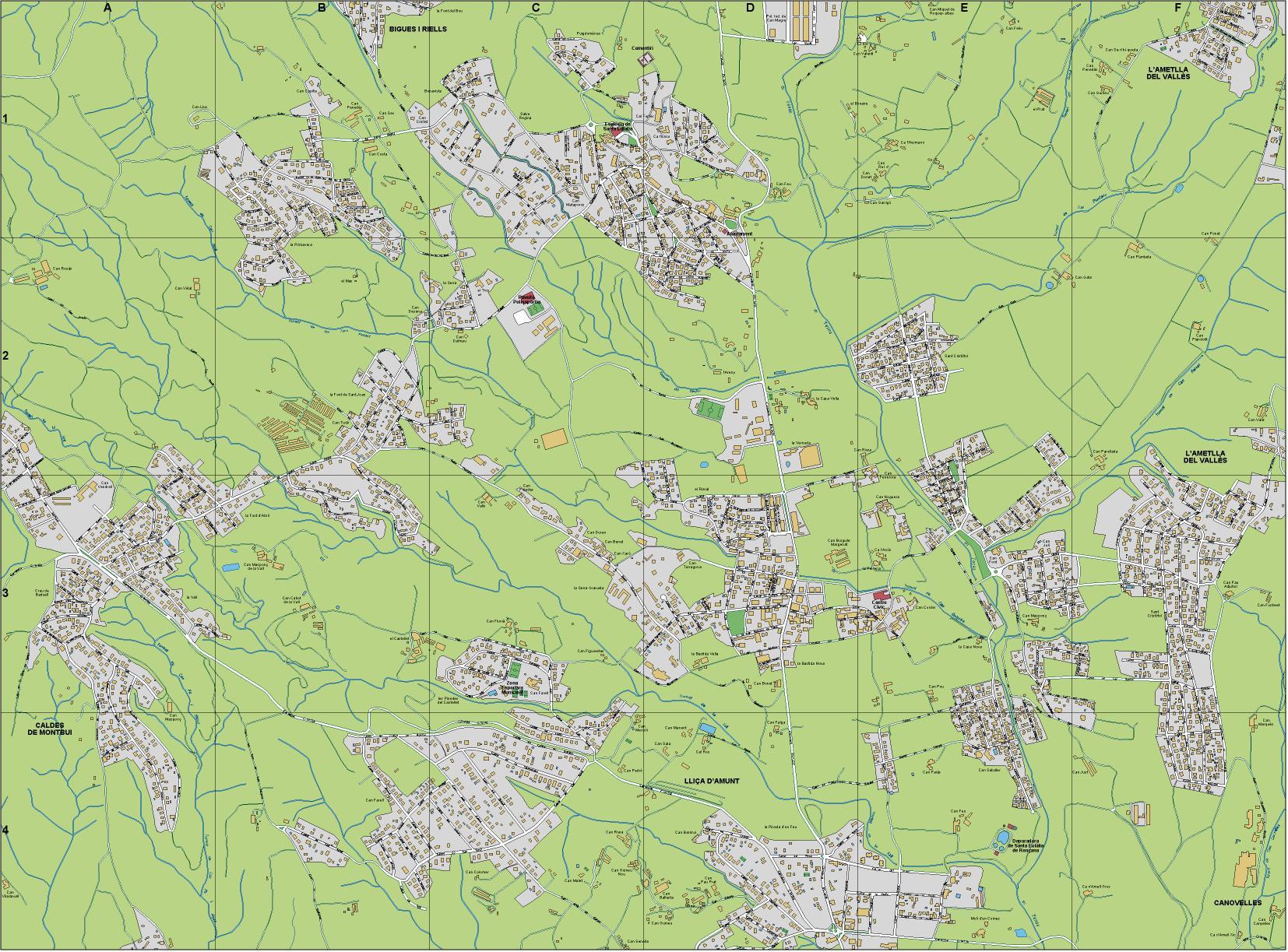 Mapa Santa Eulalia Roncana