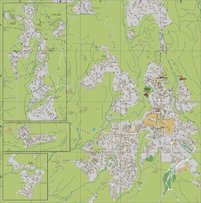 mapa Ametlla del Valles