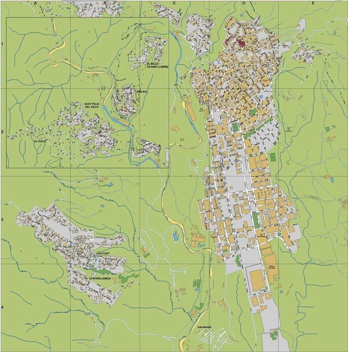 mapa Castellar del Valles