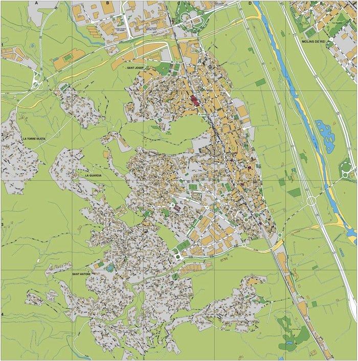 mapa Sant Vicens Horts