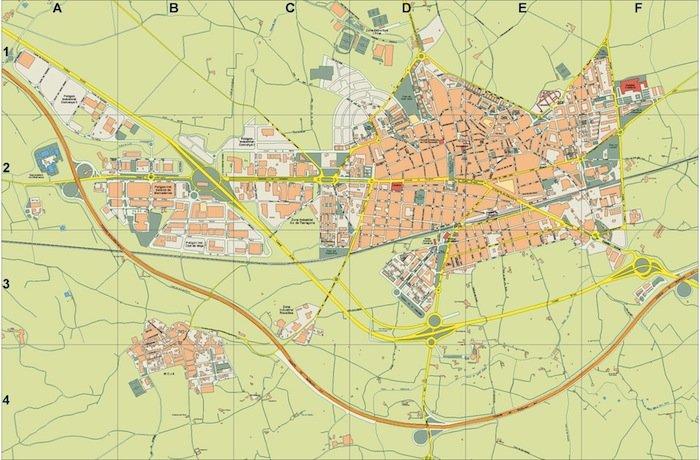 mapa Vilafranca del Penedes