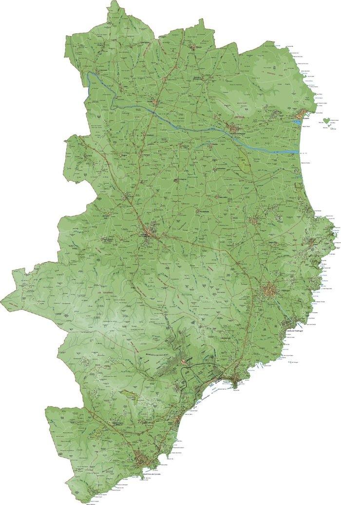 mapa baix emporda