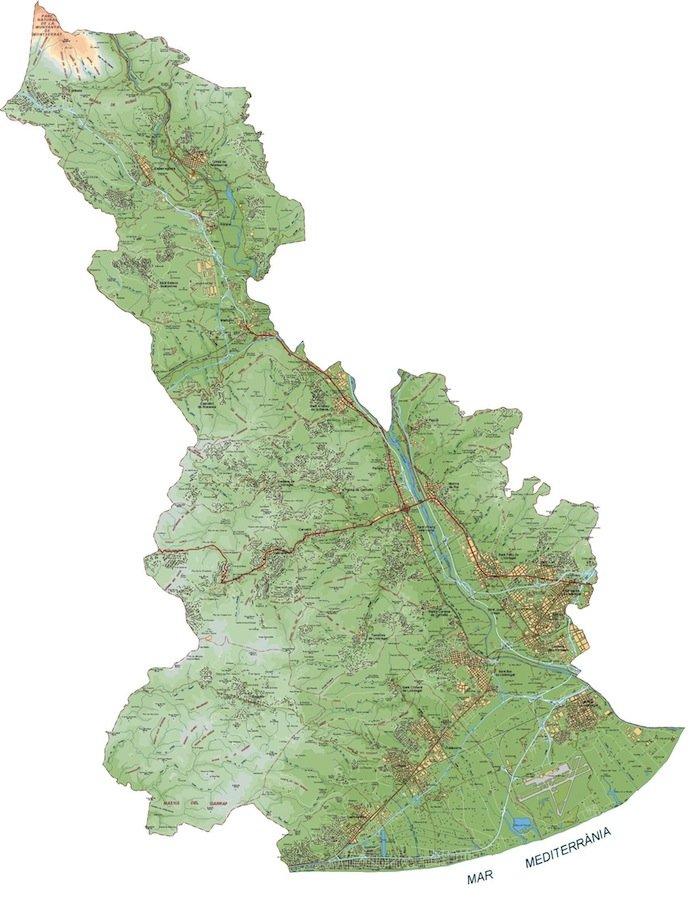 mapa baix llobregat