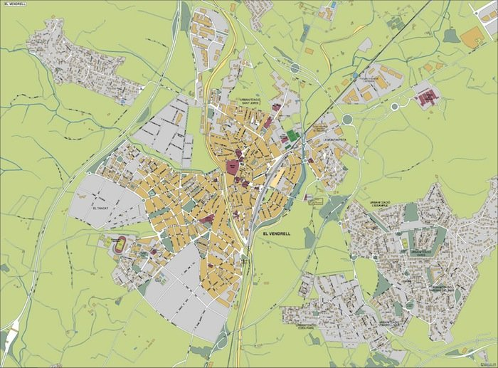 mapa el vendrell