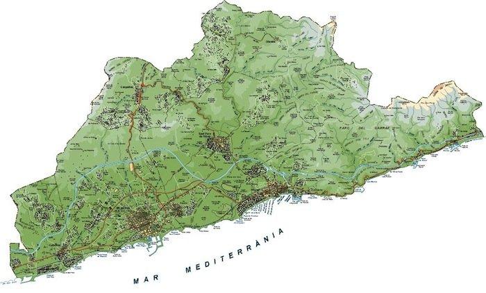 mapa garraf