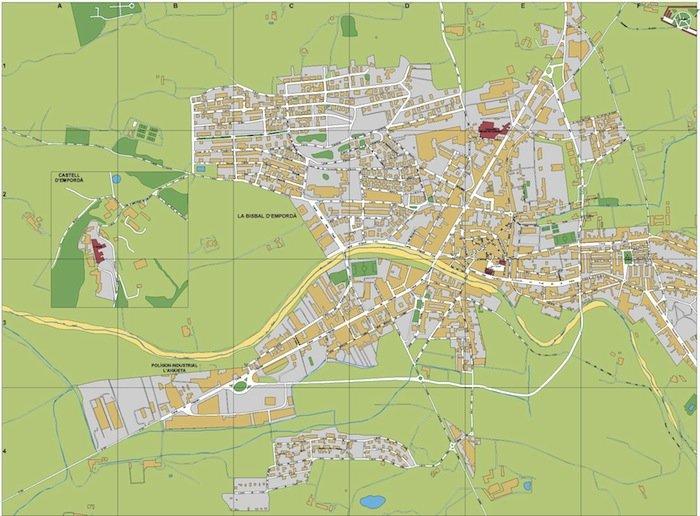 mapa la Bisbal Emporda