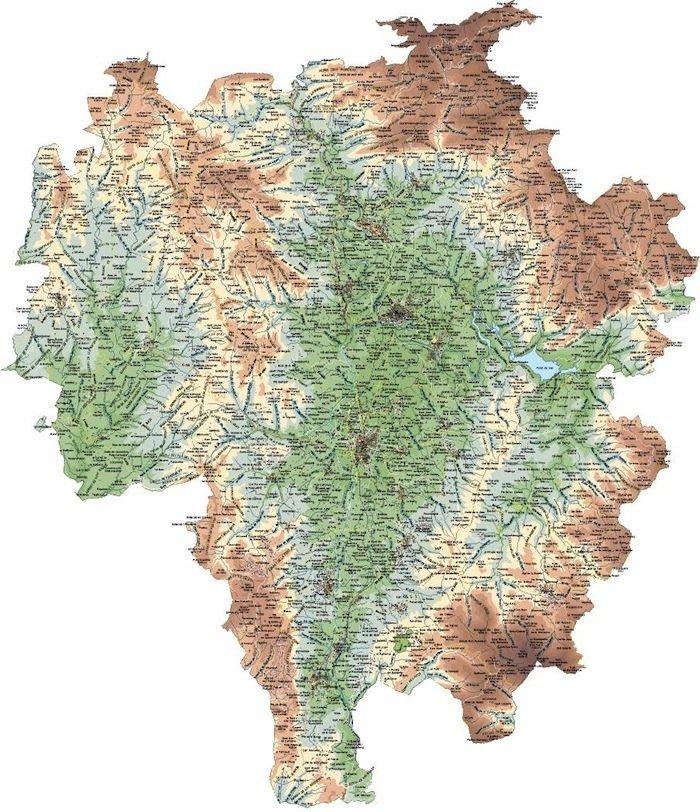 mapa osona