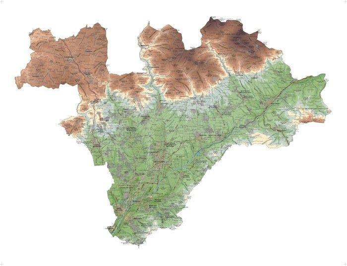 mapa valles oriental